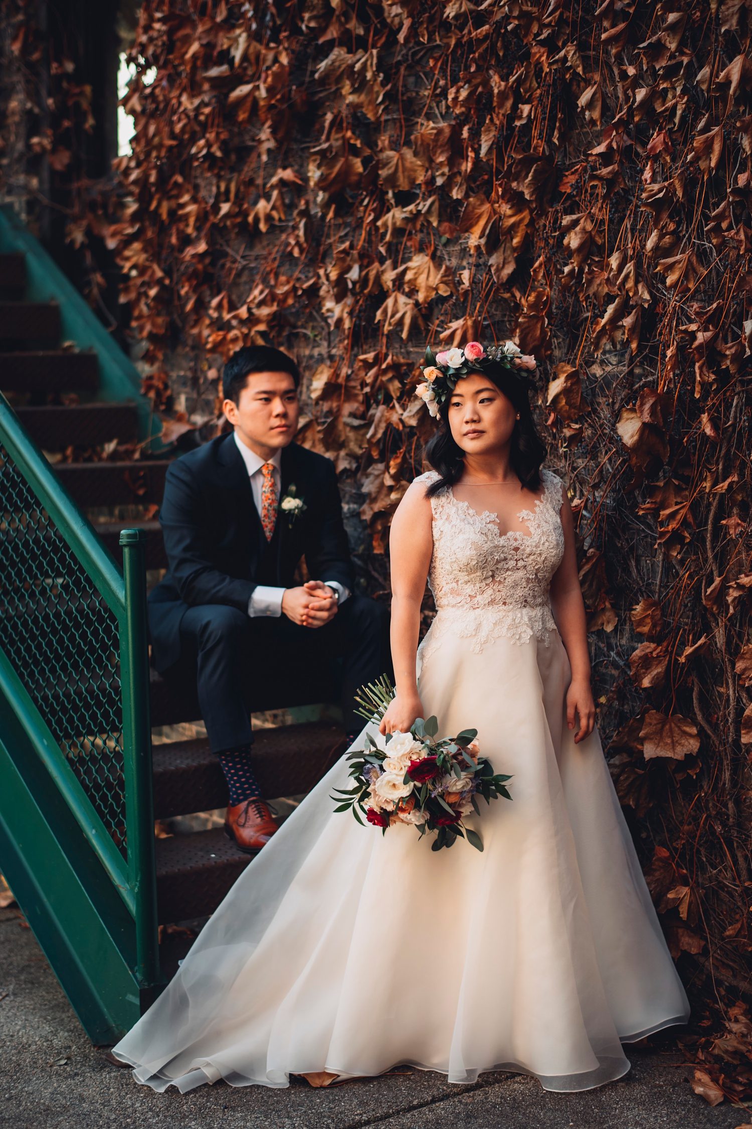 Firehouse Chicago Wedding - portraits bride and groom