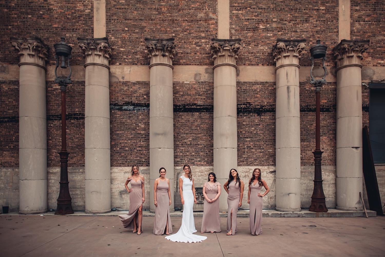 Artifact Events Fall Chicago Wedding - The Adamkovi bridesmaids