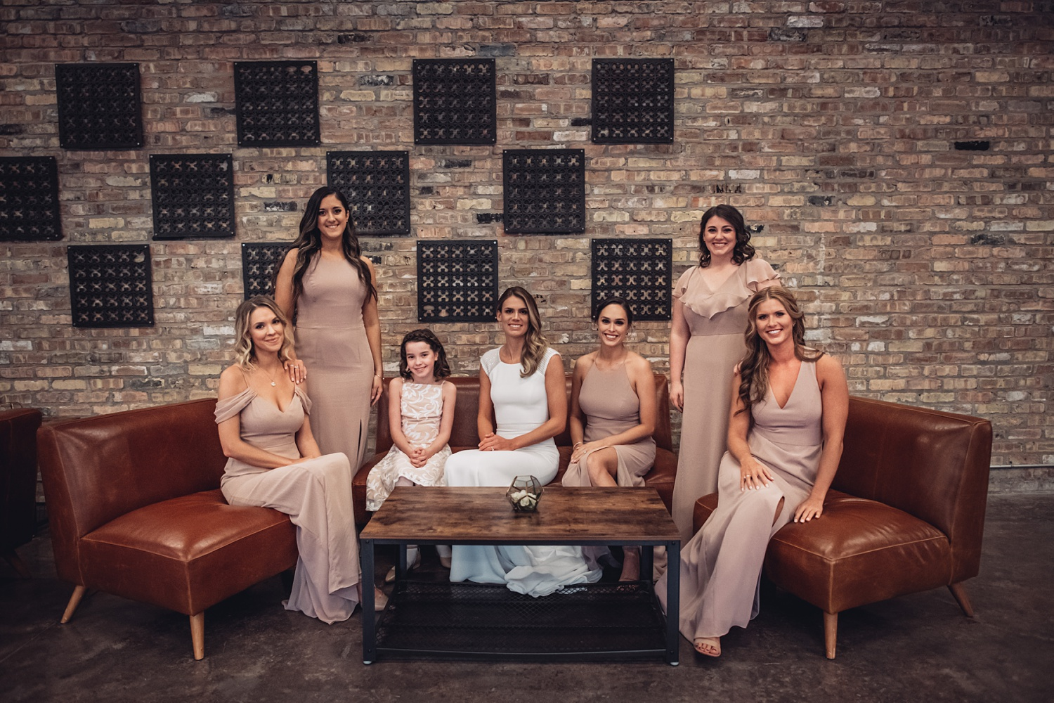 Artifact Events Fall Chicago Wedding - The Adamkovi bridesmaids