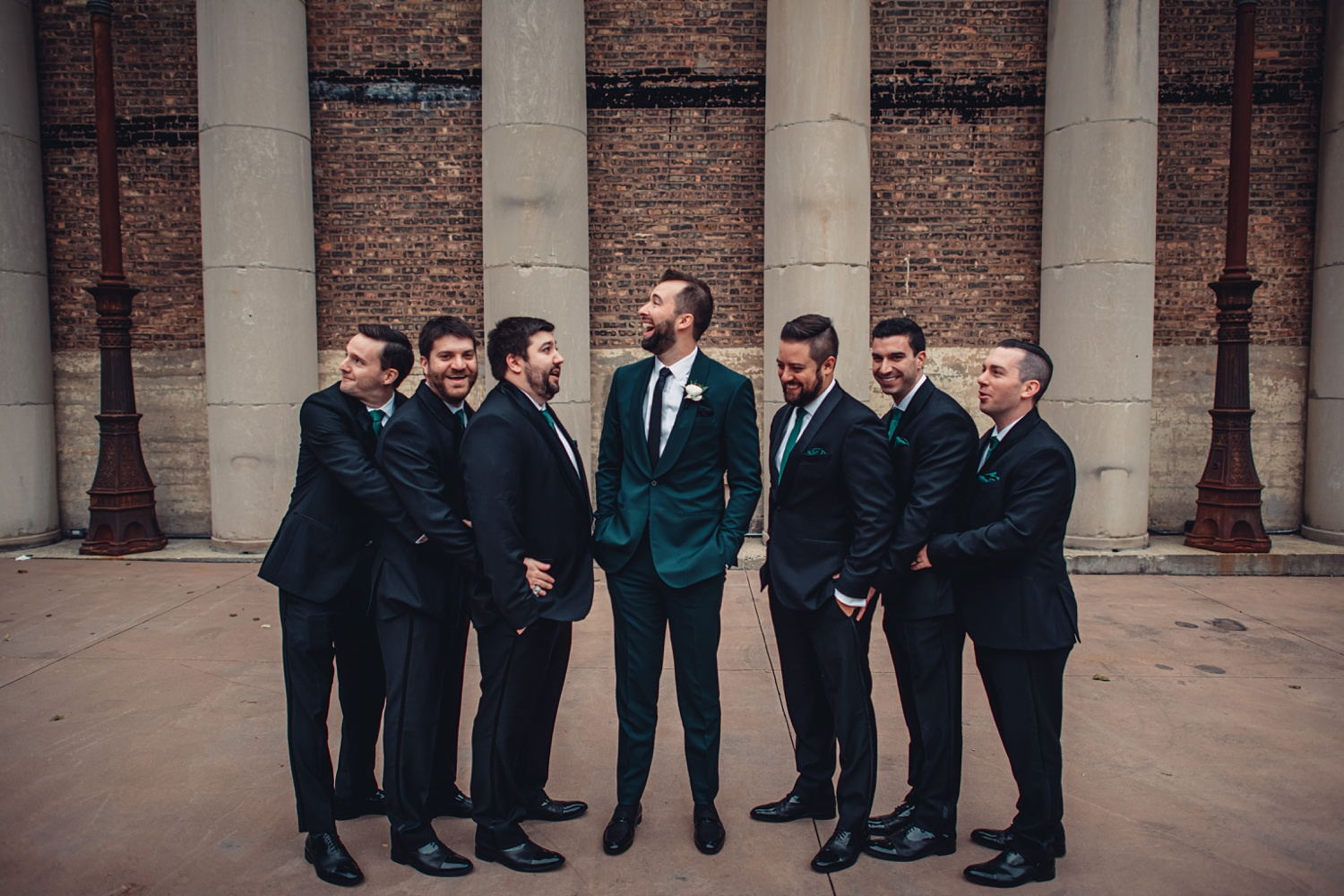 Artifact Events Fall Chicago Wedding - The Adamkovi groomsmen