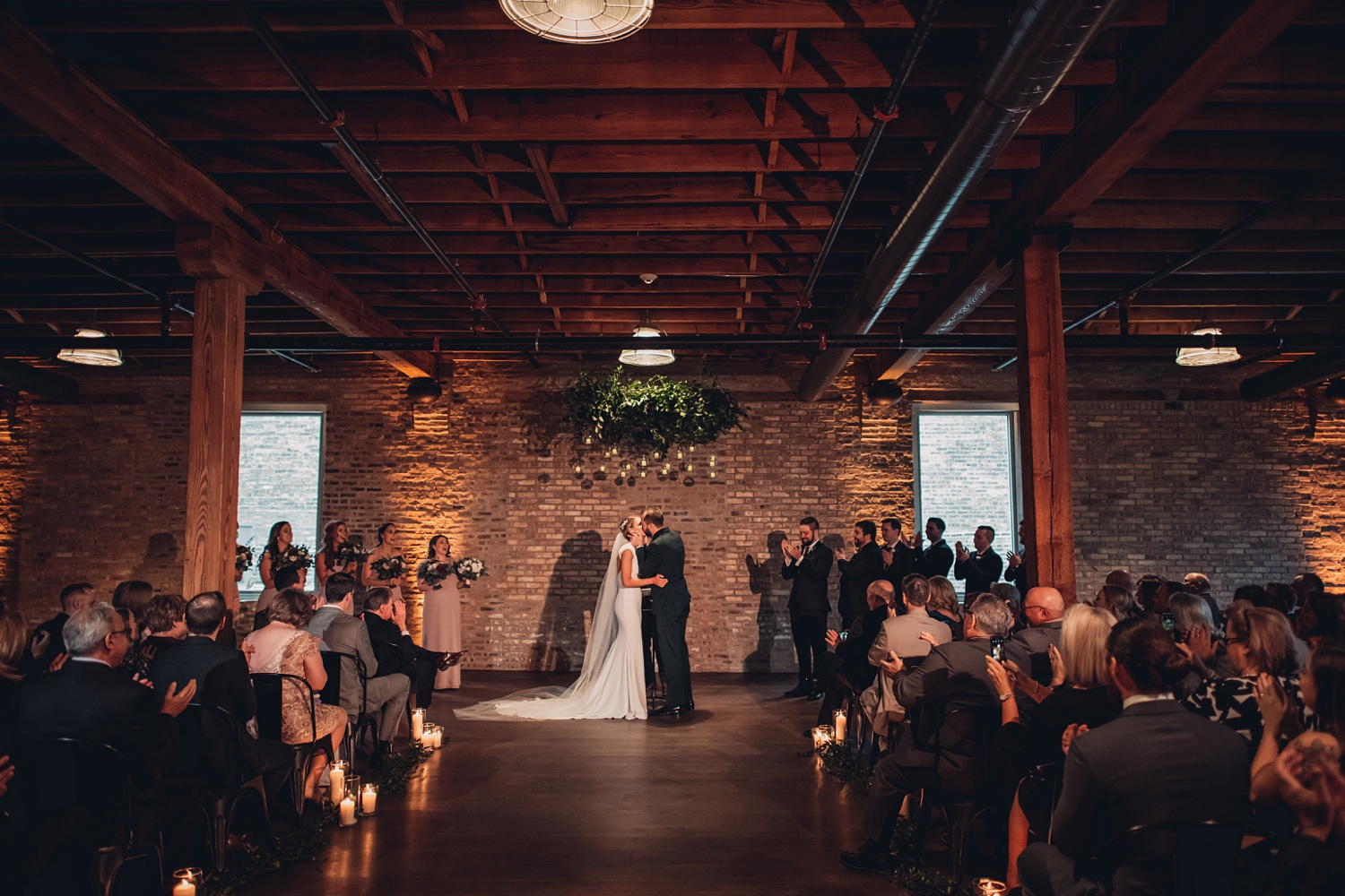 Artifact Events Fall Chicago Wedding - The Adamkovi first kiss