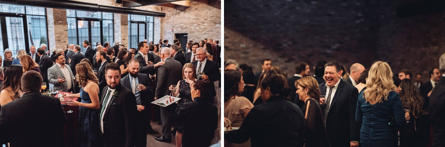 Artifact Events Fall Chicago Wedding - The Adamkovi cocktail hour