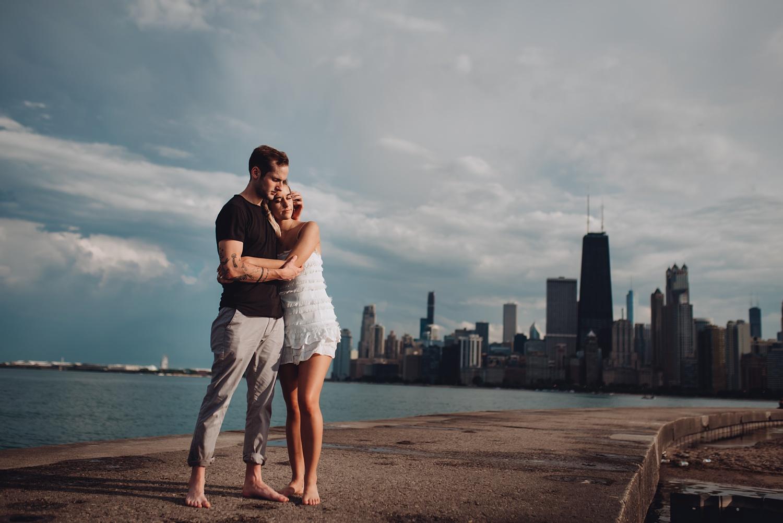 North Avenue Chicago Engagement - The Adamkovi,