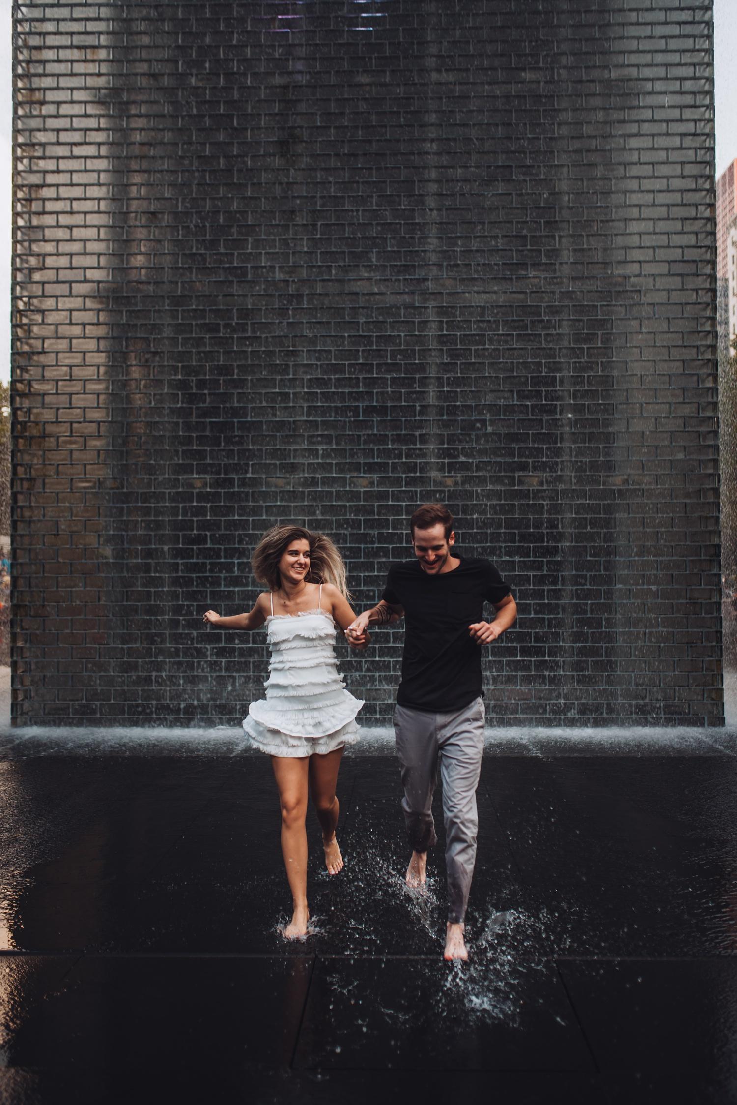 North Avenue Chicago Engagement - The Adamkovi, Millennium Park