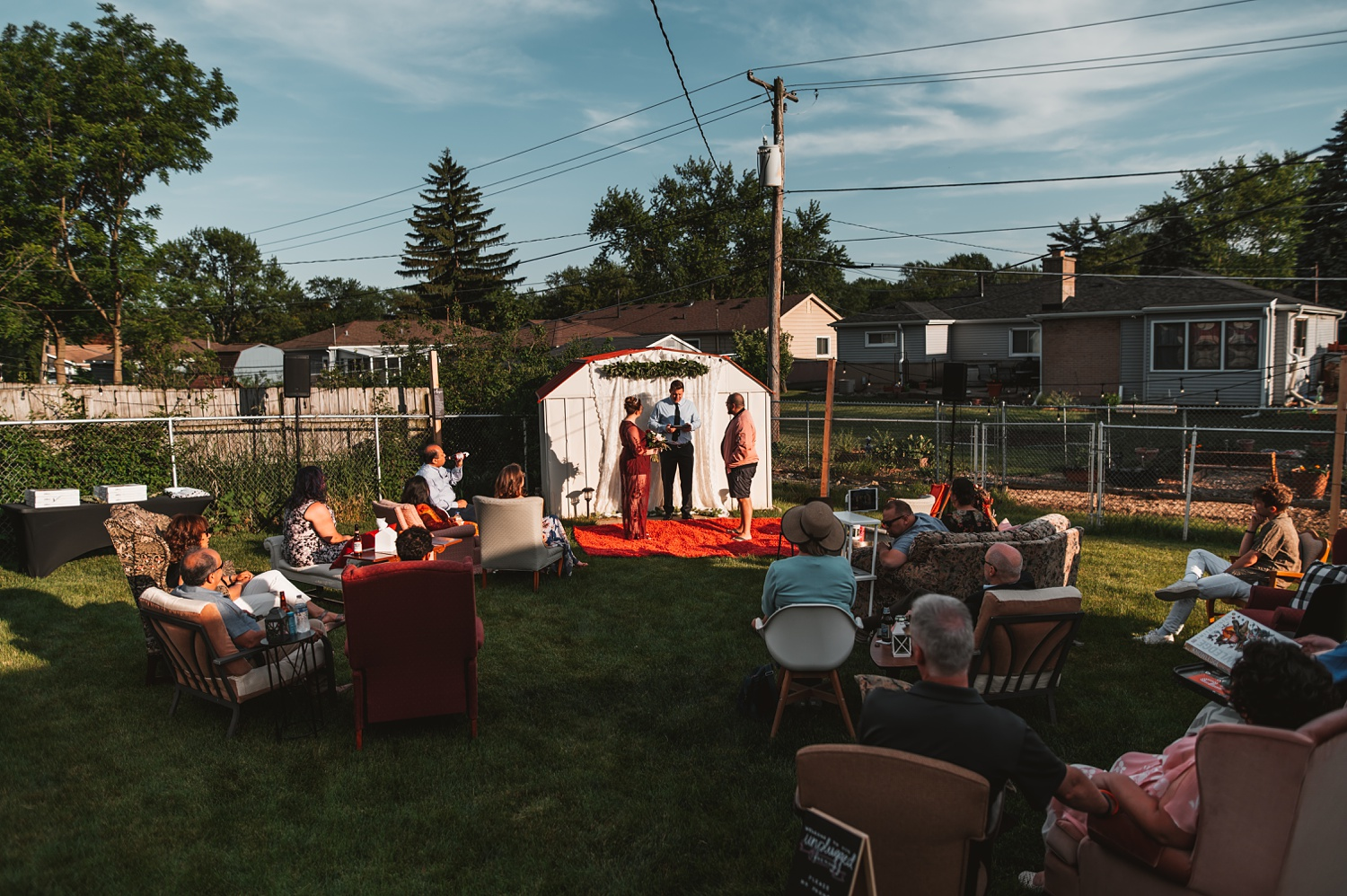 Pandemic Backyard Micro Wedding - The Adamkovi