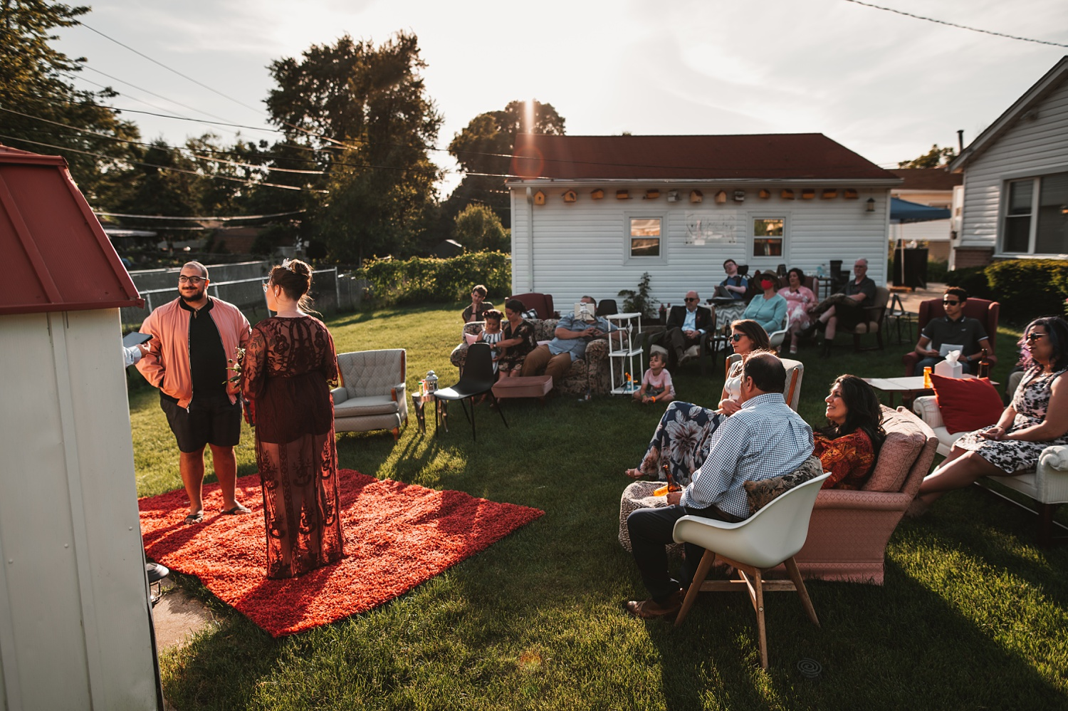 Pandemic Backyard Micro Wedding - The Adamkovi chicago