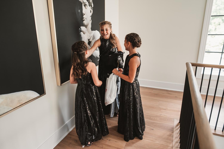 Lake Geneva Micro Wedding - The Adamkovi bridesmaids girls laughing