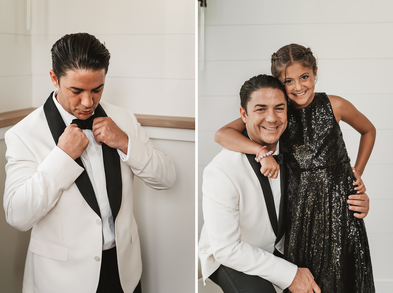 Lake Geneva Micro Wedding - The Adamkovi groom and his daughter