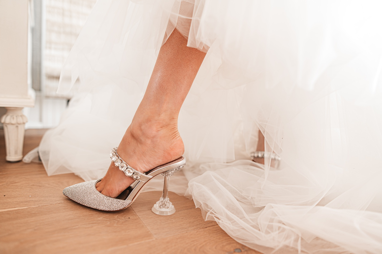 Lake Geneva Micro Wedding - The Adamkovi brides shoes