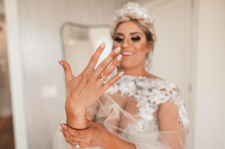 Lake Geneva Micro Wedding - The Adamkovi bride with her Cartier ring