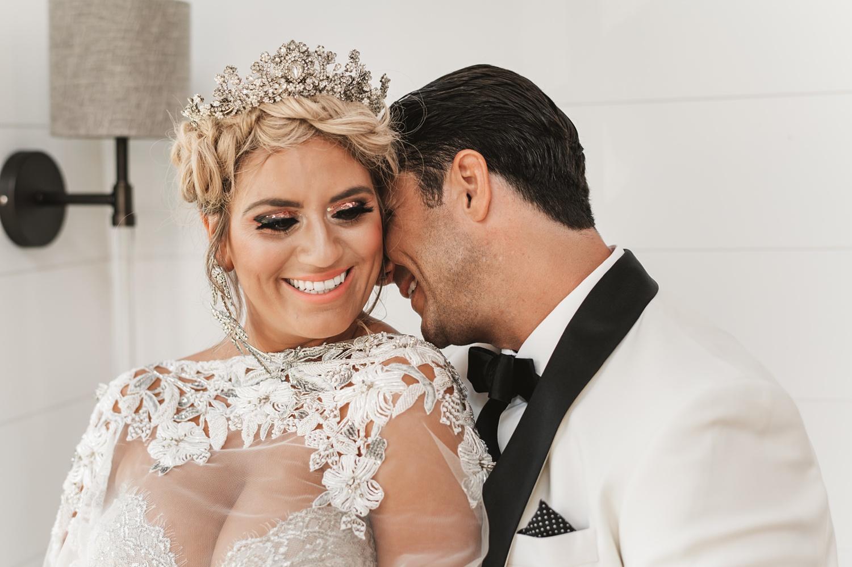 Lake Geneva Micro Wedding - The Adamkovi bride and groom cute
