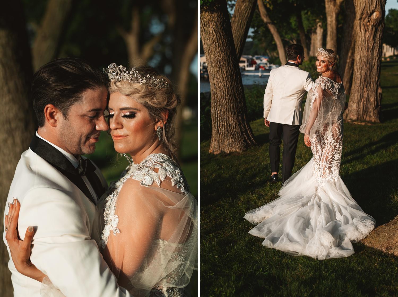 Lake Geneva Micro Wedding - The Adamkovi bride and groom epic photoshoot