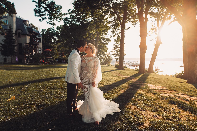 Lake Geneva Micro Wedding - The Adamkovi bride and groom epic photoshoot,