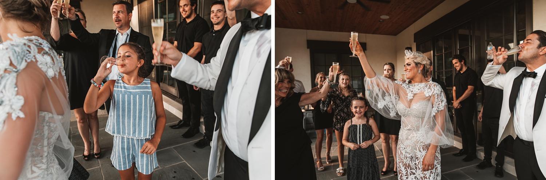 Lake Geneva Micro Wedding - The Adamkovi champagne cheering