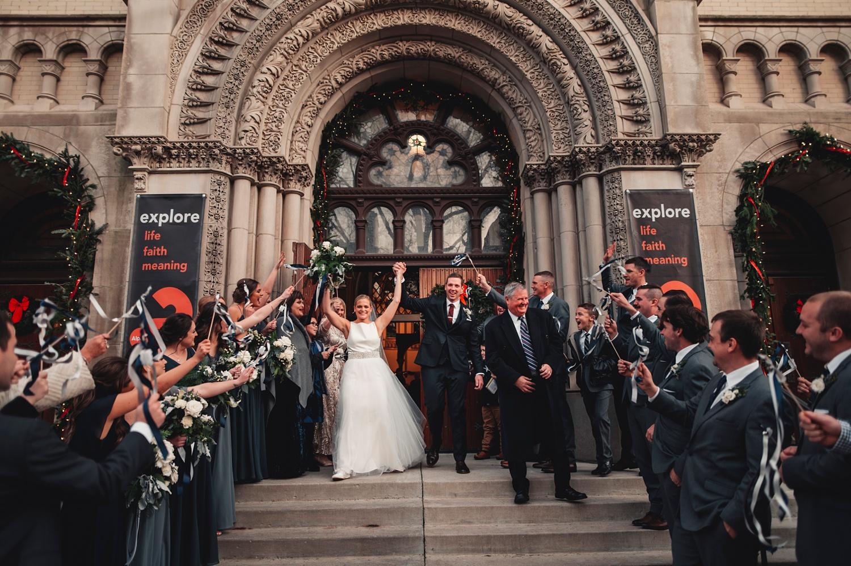Salvatore's Chicago Wedding - St. Josaphat Catholic Church, church exit