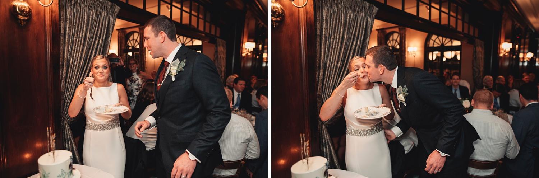 Salvatore's Chicago Wedding - Salvatore's Chicago, reception, cake cutting