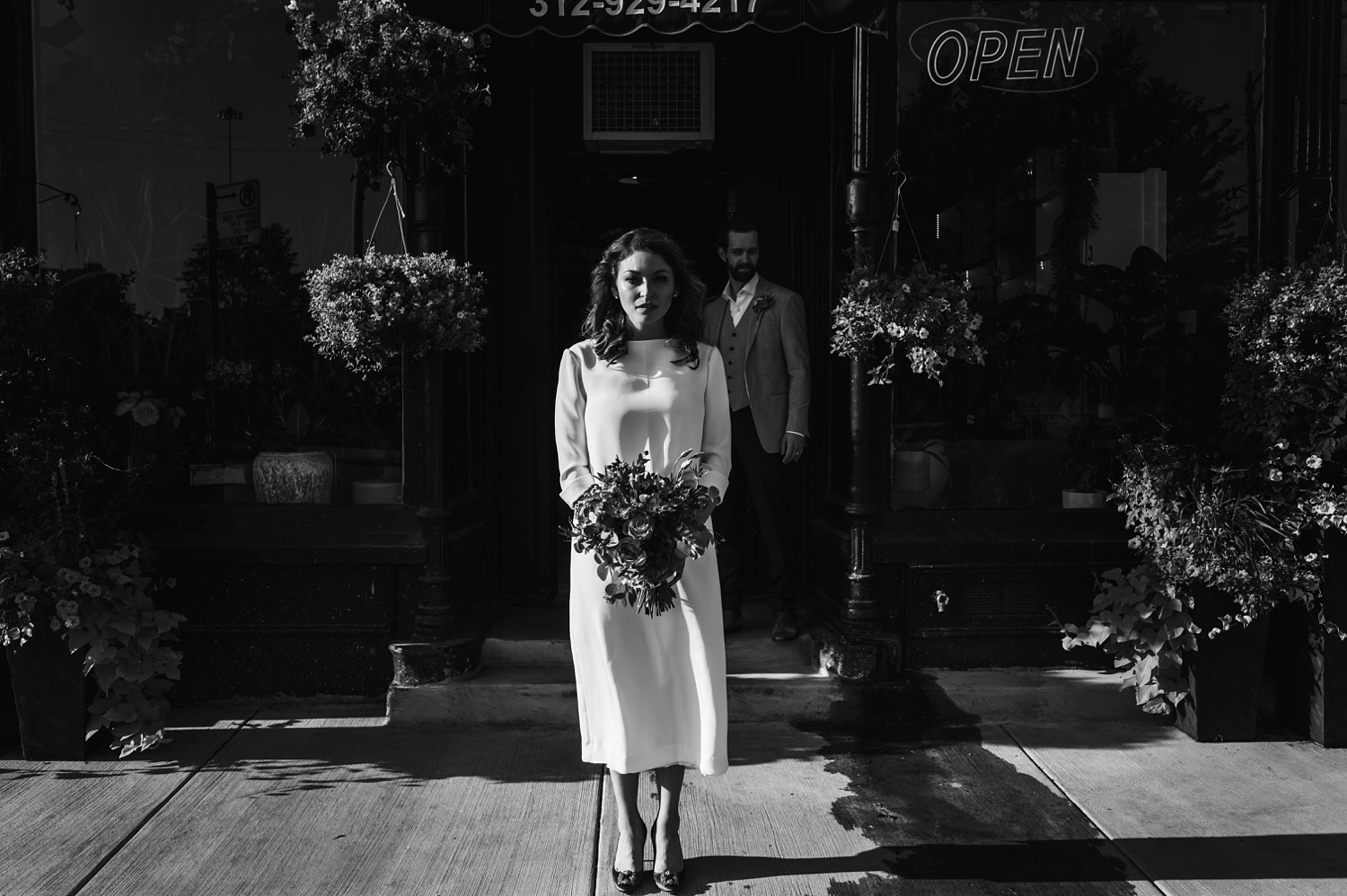 Sunrise Chicago Wedding - The Adamkovi, Steve's flower market ceremony,