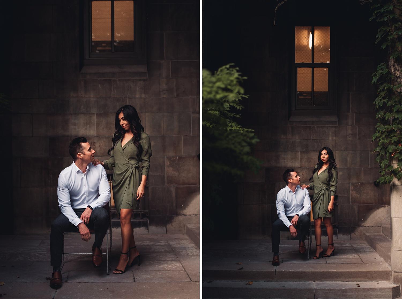 University of Chicago Engagement - The Adamkovi, epic sitting poses