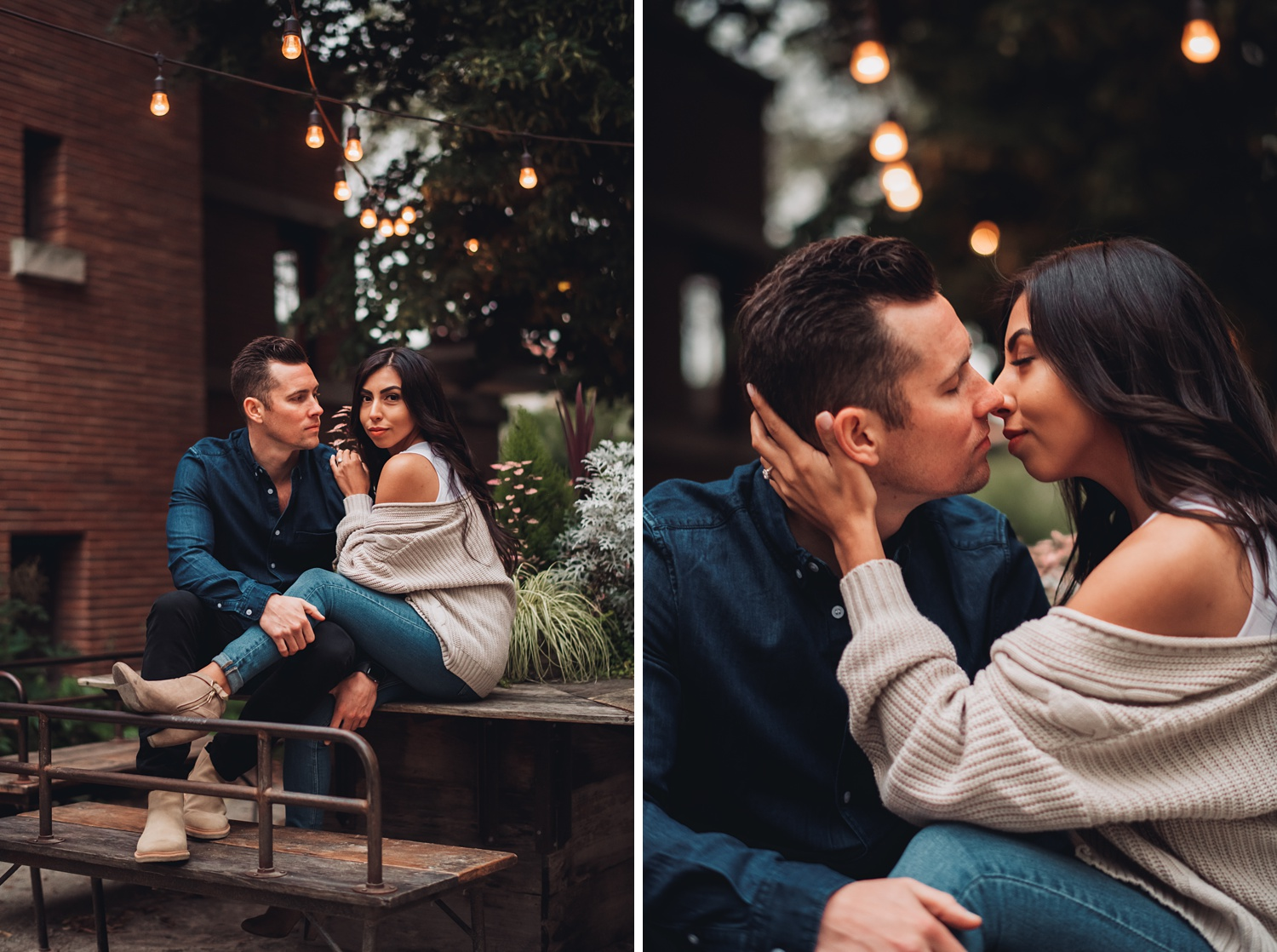 University of Chicago Engagement - The Adamkovi, cute coffee shop photo session