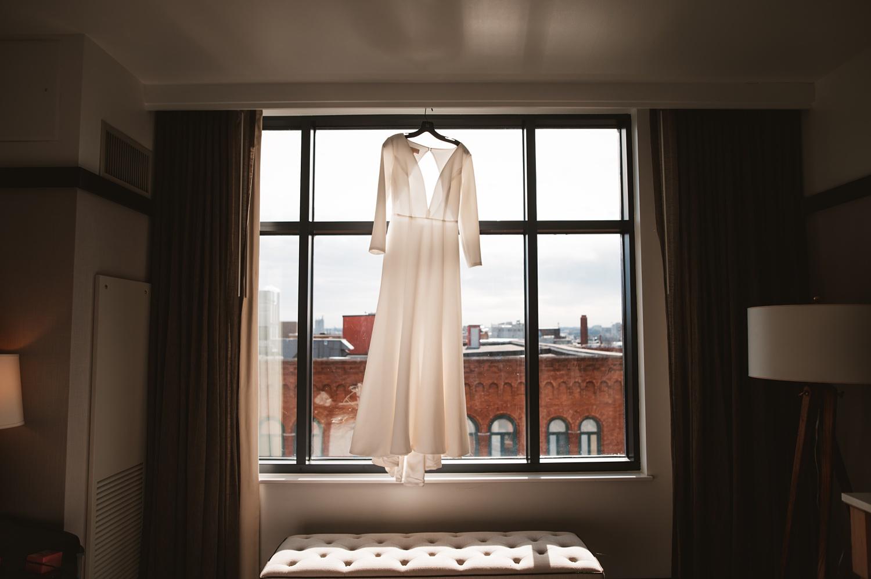the journeyman Milwaukee Wedding, wedding dress
