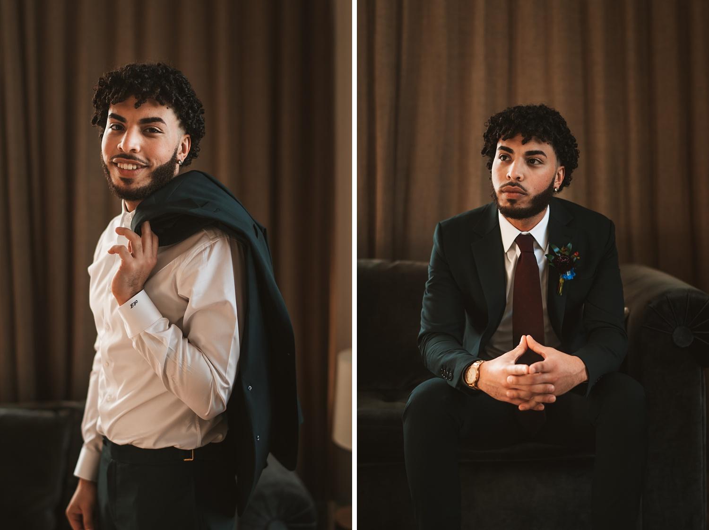 the journeyman Milwaukee Wedding groom portraits