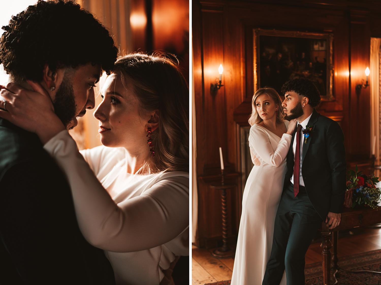 Villa Terrace Milwaukee Wedding Photography - bride & Groom portrait session