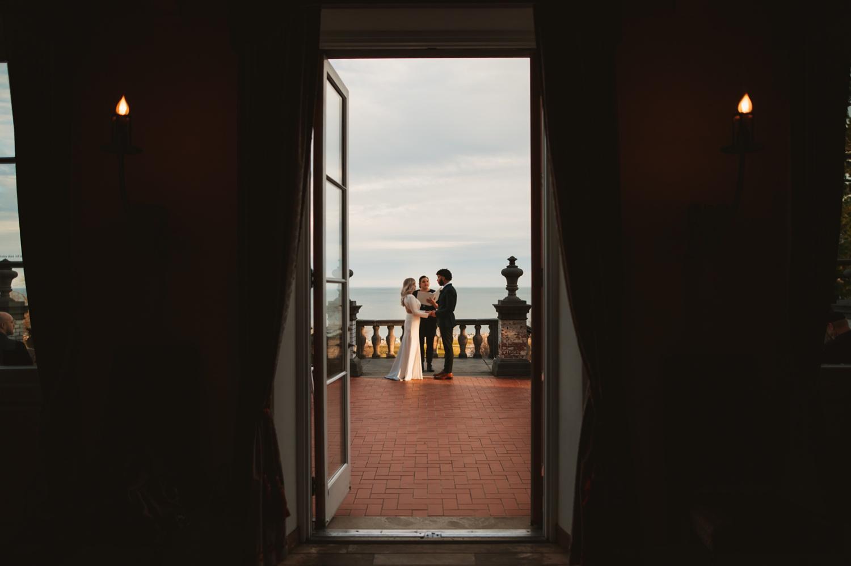 Villa Terrace Milwaukee Wedding Photography - wedding ceremony romantic, micro wedding