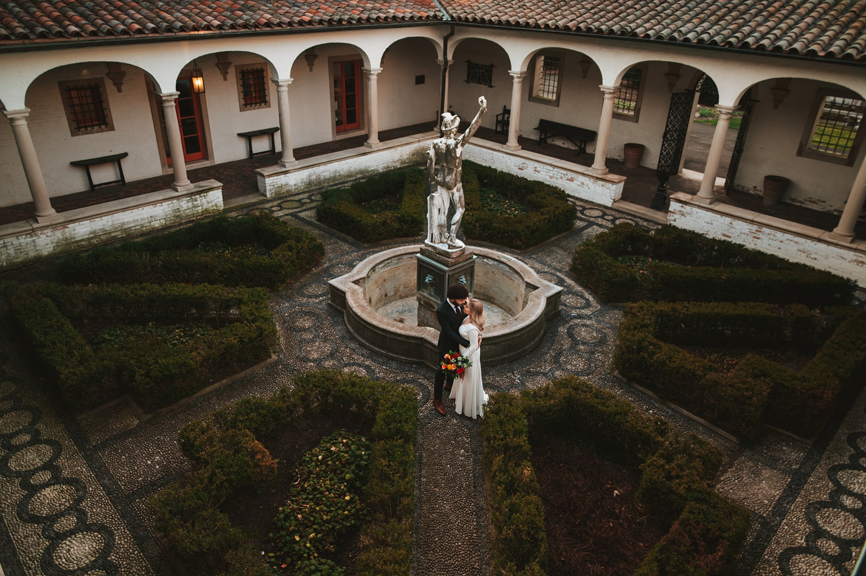 Villa Terrace Milwaukee Wedding Photography - Bride and groom romantic session