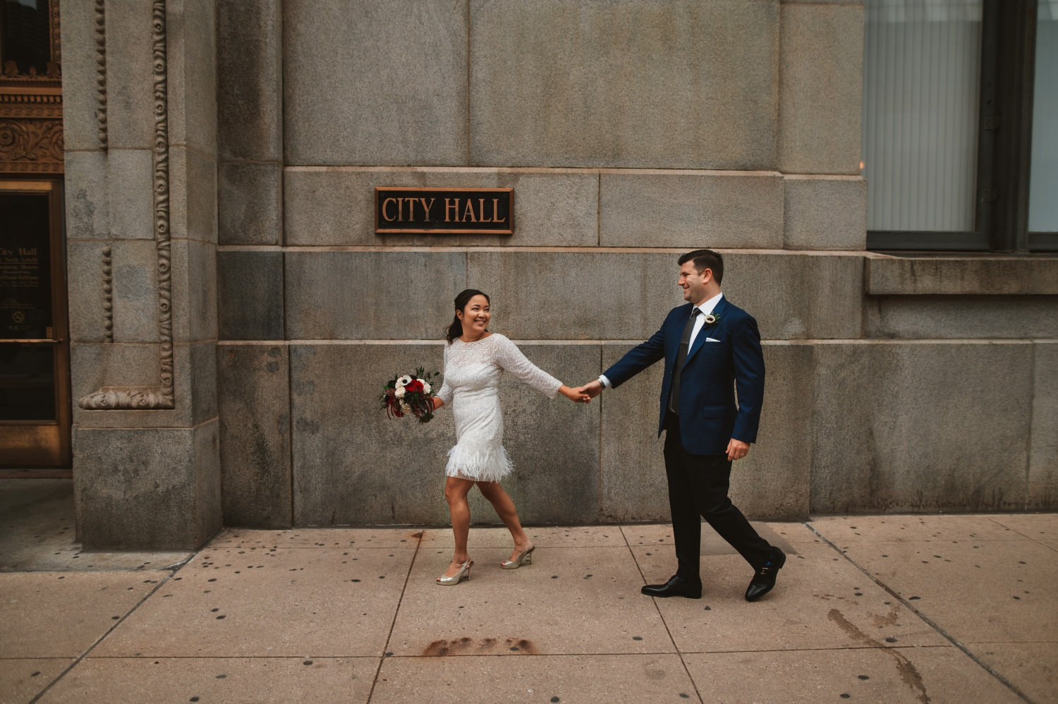 Chicago Courthouse Elopement wedding - The Adamkovi, city hall sign