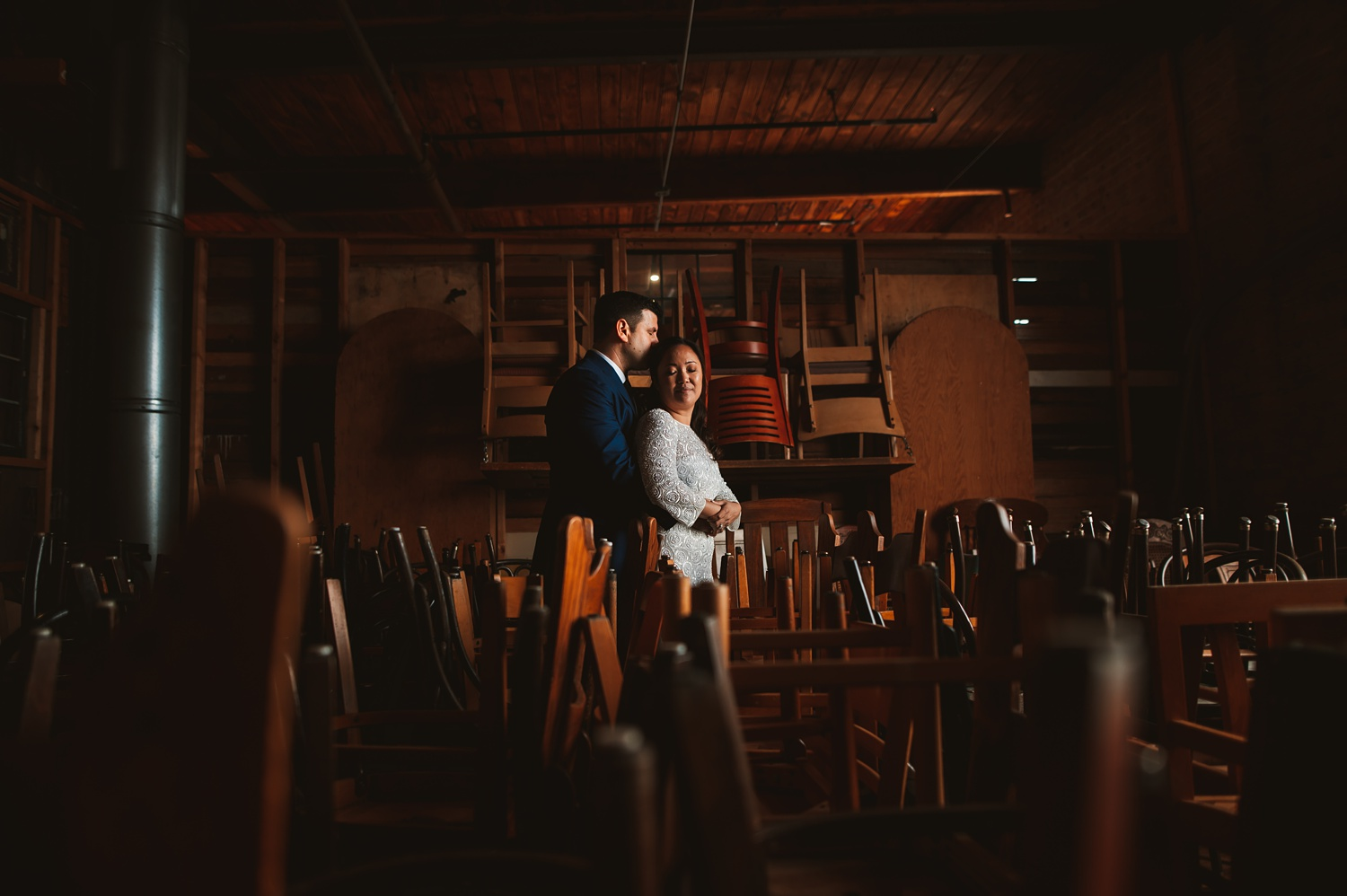 Salvage One Elopement wedding photos - The Adamkovi, creative wedding photos